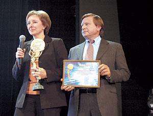 Глава представительства «Солвей Фармацеутикалз ГмбХ» Светлана Скопиченко благодарит жюри конкурса за достойную оценку.