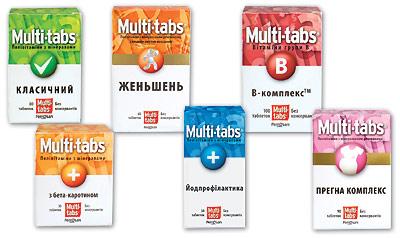 Витамины сминералами — это МУЛЬТИ-ТАБС®!