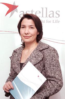Индира Гамисония, маркетинг-менеджер представительства компании «Астеллас Фарма Юроп Б.В.» вУкраине