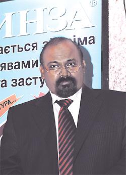 Господин Тамарай Пандиан, глава представительства компании «Юник Фармасьютикалз Лабораториз» вУкраине