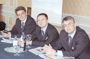 Слева направо: Игорь Крячок, Владимир Митин, Валерий Кидонь