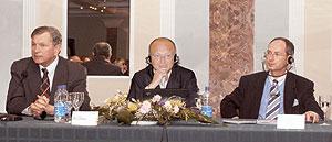 Слева направо: Василий Нетяженко, Михаэль Попп, Михаэль Визенауэр