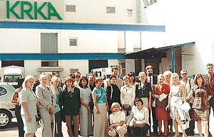 Группа украинских провизоров назаводе компании KRKA, Словения, Ново Место.