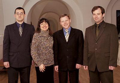 Слева направо: Алексей Гриднев, Лилит Маркосян, Максим Бабак, Александр Бондарь