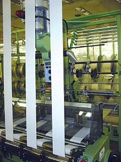 Процесс производства эластичных бинтов
