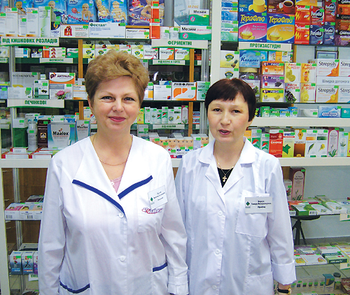 Валентина Надточий (В.Н.) иТамара                                     Бурсук  (Т.Б.), провизоры аптеки «Фалби» № 20: