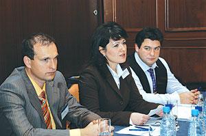 Слева направо:  О. Токарев, Н. Численко, Ю. Чертков