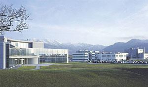 Рис. 1. Завод полного цикла вг. Буль (Швейцария) — место рождения препарата Ксизал®