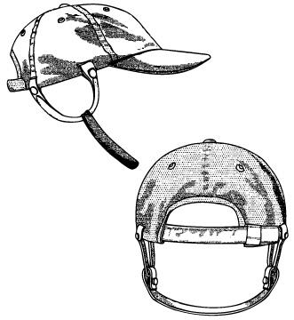 Патент США D503846 «Кепка сошляпными ремешками» (опубликован 04.12.2005)