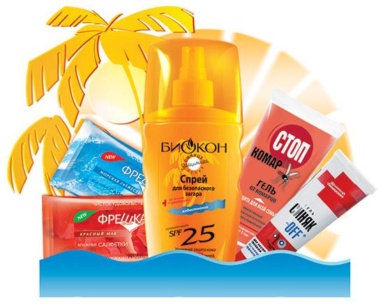 Сезонный ассортимент для аптек, или Продукты для здорового отдыха от «БИОКОН»