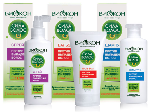 Шампунь против выпадения волос биокон