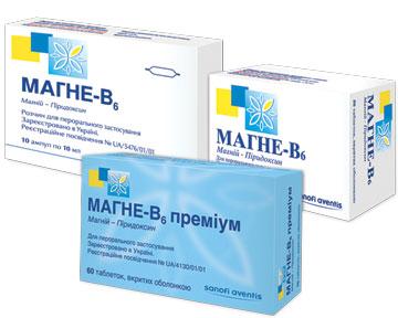 МАГНЕ-В6 — найпопулярнійший магнієвмісний препарат серед лікарів України