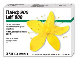 ЛАЙФ 900 (LAIF 900) — антидепрессант растительного происхождения, содержащий сухой экстракт из зверобоя
