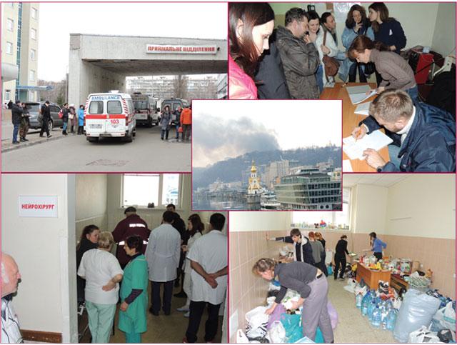 Больница скорой медицинской помощи: эвакуаторный поток растет, спасение жертв продолжается (обновлено)