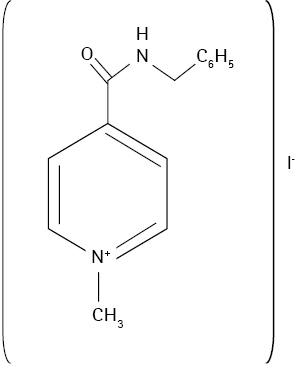 Хімічна структура енісаміуму йодиду