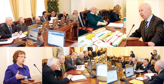 Відбулося спільне засідання президій НАН та НАМН України з членами АВЛУ